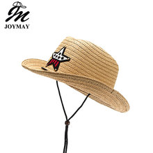 JOYAMY New Design Fashion Kids Children Straw Hat Jazz Formal Cowboy Hat Summer Sun Hat Beach HATS Adjustable unisix C005