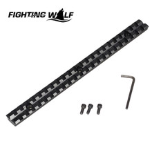 Hot Combat Airsoft Tactical Rifle Durable Scope 20mm Mount 3 Slot 230mm Weaver Picatinny Rail Aluminium Alloy Hunting Accessory(China)