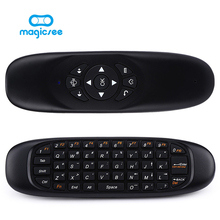 C120 All in one 2.4G air mouse Rechargeable Wireless Air Fly Mouse Keyboard for Android TV Box Computer Russian English Version