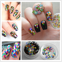 1 Box 2mm Rhombus Paillette Nail Sequins Sparkling Colorful Glitter Nail Art Decoration