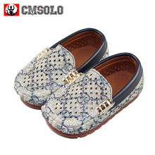 CMSOLO Shoes For Kids Leather Toddler Boys Shoe Loafers Footwear Flats Casual Child Shoes For Kids Autumn Hot Toddler Boys Shoe(China)