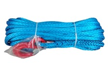 "Free Shipping YZHYRN 10mm x 30m 3/8"" x 100' ATV UTV 4WD synthetic winch rope cable line with thimble sheath with hook(China)"