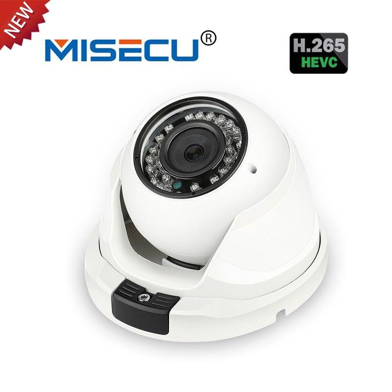 MISECU 5.0MP H.265 48V POE Hi3516D PS5510 Dome Metal IP 36IR Camera ONVIF 2592*1944P2P Night View XMEye<br>