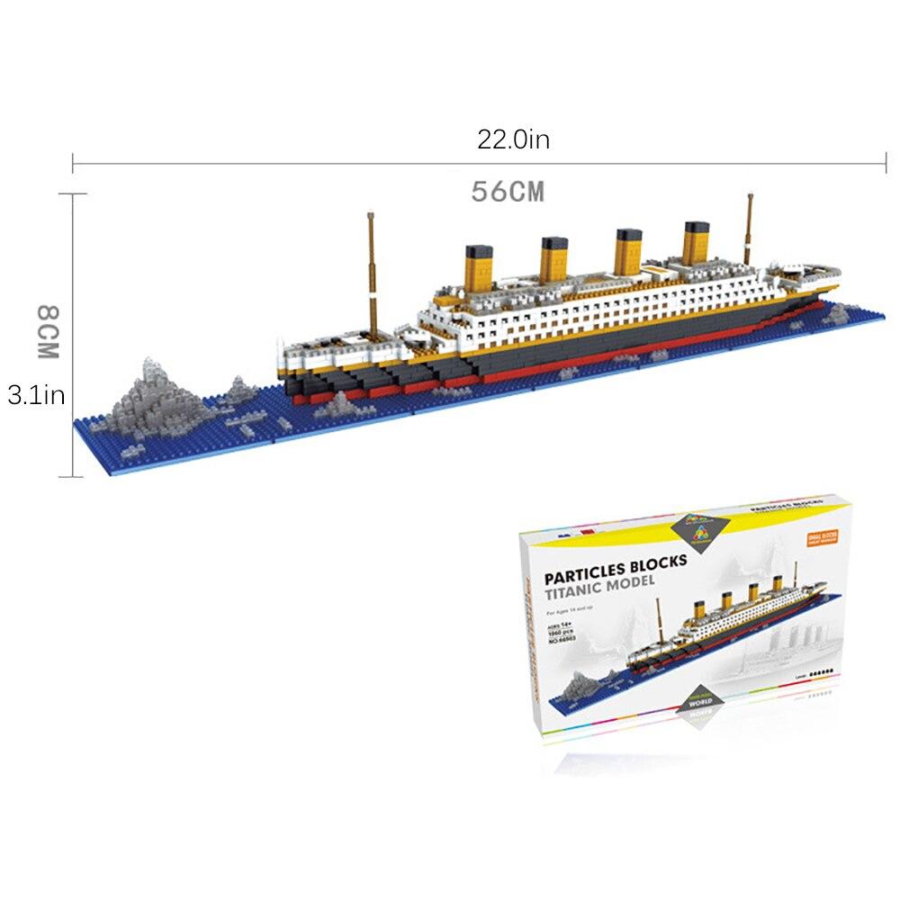 2017 New Mini Nano Micro Building Block Titanic Block 66503 Miniature building blocks Free shipping<br><br>Aliexpress