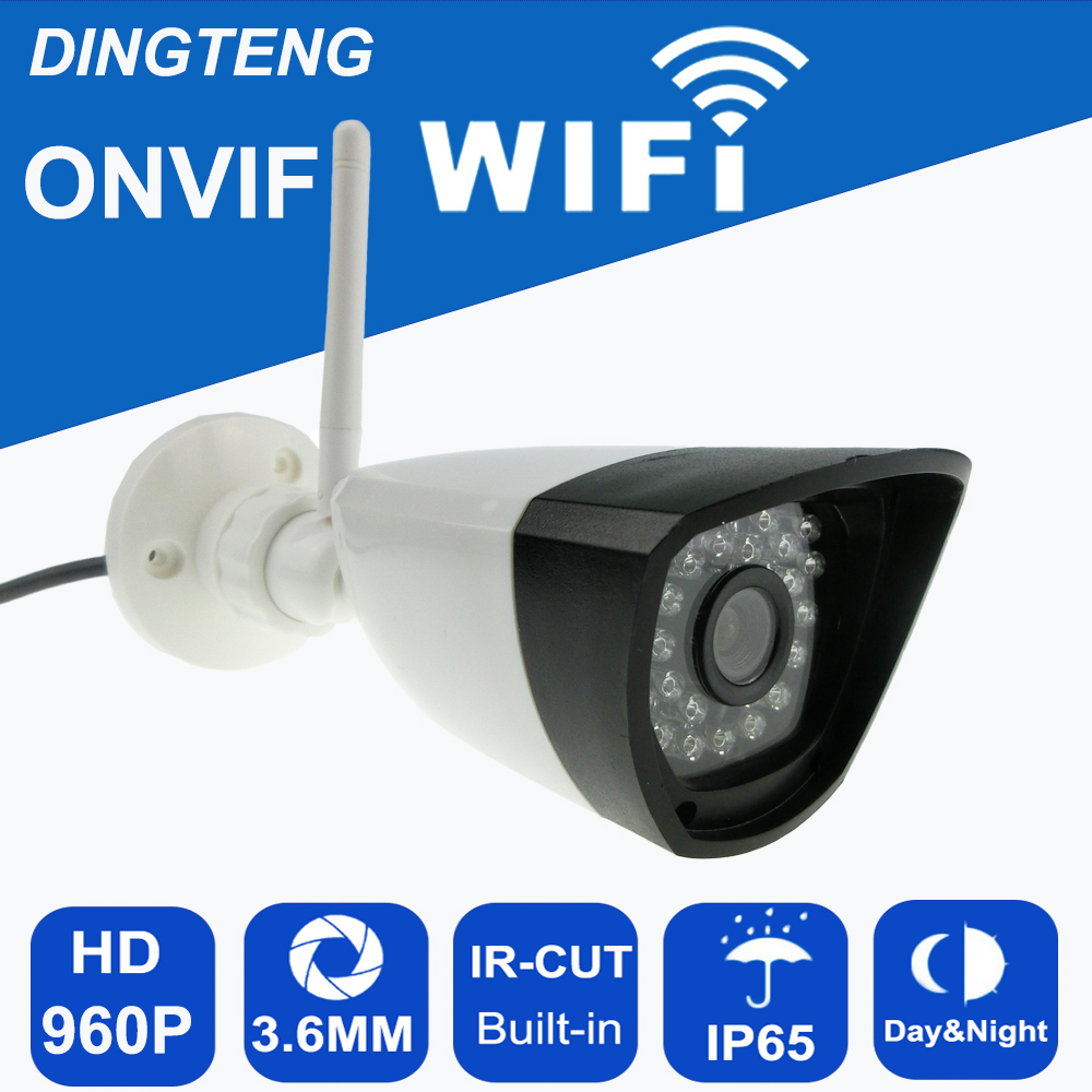 CCTV IP Camera HD  Wifi 960P 1.3MP Camera  Network P2P Onvif Wirless Security Camera Waterproof IP65 Night Vision free shipping<br>