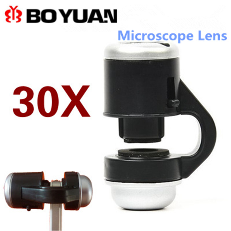 Fish Eye Lens 30X microscope lenses Optical Zoom camera lens For iPhone 5s/6/6s/7 For Smartphone fisheye Macro Lens for Huawei