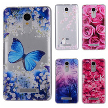 Phone Cases sFor Xiaomi Redmi Note 3 Note3 Pro Flowers Rose Plants Butterfly Pattern Clear Soft TPU Back Cover for Hongmi Note 3