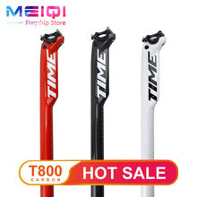 TIME Mountain bike Carbon seatpost  carbon fibre bicycle seatposts Road MTB parts 27.2/30.8/31.6*350mm 25mm offset free shipping
