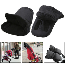 1 Pair Baby Pram Stroller Gloves Pushchair Hand Muff Warm Fleece Gloves Baby Stroller Accessory Mom Winter Gloves(China)