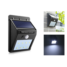 Waterproof Solar Light 8 16 20LEDs PIR Motion Detector Door Wall Light Outdoor LED Solar Panel Lamp Security Spot Lighting(China)