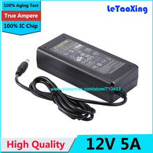 1pcs AC DC 12V 5A Power Adapter Supply 60W Switch For 5050 3528 LED Light LCD Monitor CCTV Without Cord With IC Chip(China)