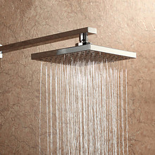 Free Shipping Wholesale And Retail ABS 8 Inch Rain Shower Head Top Sprayer With stainless steel Shower Arm Bar TH033