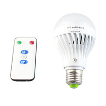 Emergency Lamp 7W E27 with Remote controller Dimmable led bulb 85-265V Rechargeable LED Magic bulbs