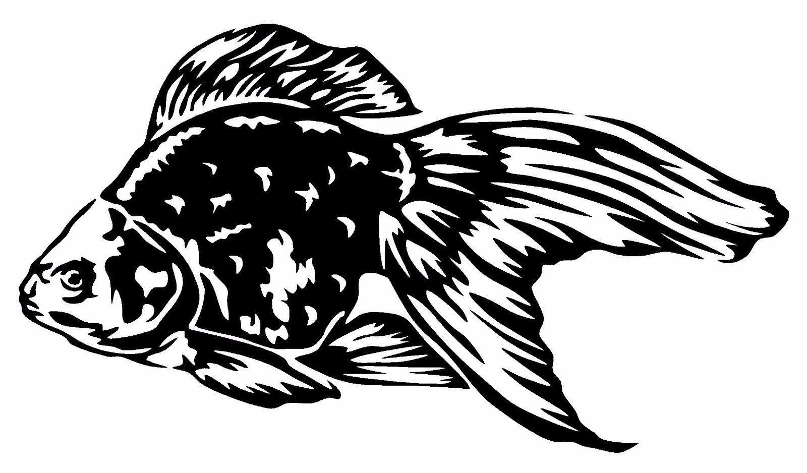2018 car styling for goldfish vinyl decal sticker car window wall bumper fish cute koi oranda