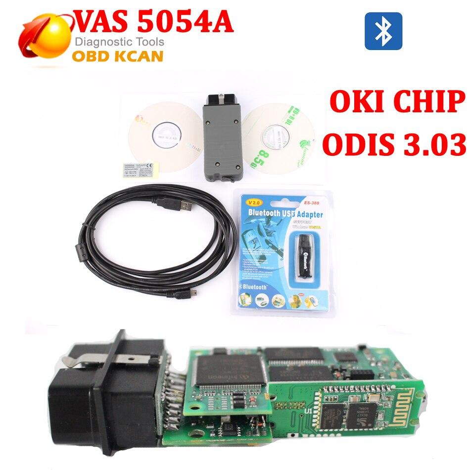 Oki full chip vas 5054a vas5054a with odis v4 1 3 for uds protocol vas5054 bluetooth support multi languages vas 5054 free ship