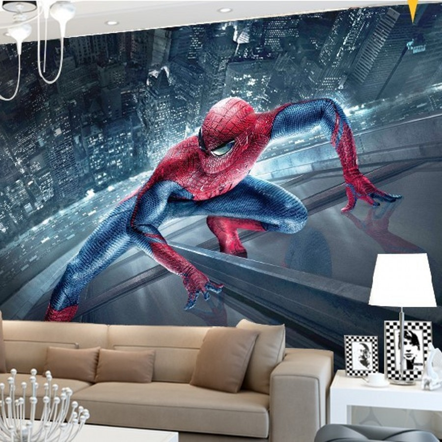 Beibehang Mural Wallpaper Bedroom Living Room Backdrop Painted Custom  Stereoscopic 3D Spiderman 3d Photo Wallpaper Papel Part 18