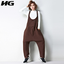 [XITAO] 2017 Autumn Korea Preppy Style Women Solid Color Pockets Loose Full Length Jumpsuits Female Suspender Jumpsuits XWW839(China)