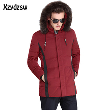 Winter Jacket Men Coat Duck Down Jacket Canada Goode Fur Hood Removable Parka Men Coat Masculine Men's Jacket Plus Size XXXL(China)