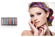 Hot-1 set 12 Colors Non-toxic Temporary Pastel Hair Square Hair Dye Color Chalk hair color paint for hair giz pastel(China)