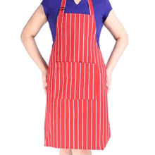 Stripe Bib Apron with 2 Pockets Chef Waiter Kitchen Cook New Tool Kitchen Apron Kitchen Accessories(China)