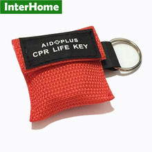 NEW!!! 20 Pieces CPR Rescue Mask Shield CPR Mask With Keys Chain With One-way Valve For First Aid Training Emergency Kits(China)
