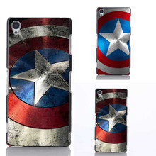 Marvel Hero Captain America Cover Cases For Huawei P6 P7 P8 P8Lite P9 P9 Lite G7 For Sony Xperia Z1 Z2 Z3 Z4 Z5 M2 T3 Z3 mini