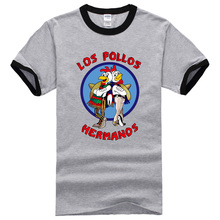 2017 Summer New Fashion T shirts Men's Breaking Bad Shirt LOS POLLOS Hermanos T-shirt Brothers Chicken Short Sleeve Hipster Tops