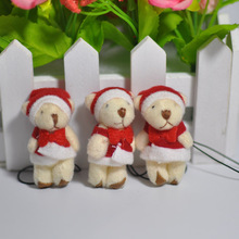 "Bulk The Christmas Teddy Bear Holiday Bear Plush Soft Doll Stuffed Animals 4.5cm(1.8"")"