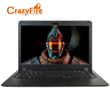 "Crazyfire 14"" Full HD Screen Hairline Metal Case Laptop Computer Dual Core Laptops Notebook 4GB RAM & 500GB HDD Ultrathin Laptop(China)"