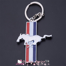 2017 HOT New Zinc Alloy Mustang Car Logo Keychains For Ford Mustang Chaveiro Keyring Sport Key chain ring Key Holder car styling