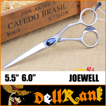 "Japan Original ""JOEWELL"" Scissors 6 Professional Barber Hairdressing Salon Scissors 440C High Quality Hair Cutting Shears J-6(China)"