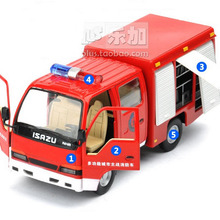 High Simulation Exquisite Model Toys ShengHui Car Styling Isuzu Multifunction Fire Car Model 1:32 Alloy Truck Model Best Gifts