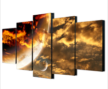 framed 5 Pieces Red Planet From Deep Space Canvas Art Canvas Paintings Poster Decorations For Home Wall Art Prints Canvas(China)