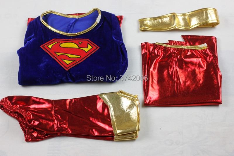 Girls Supergirl Costume High School Comic Superhero Book Day Week