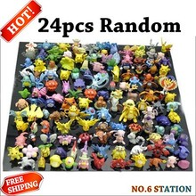 Hot sale Wholesale Lots 24 pcs mini pikachu pokeball poke monster random action figures kids toy Drop Shipping best gift