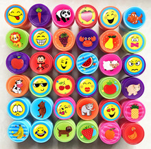 100% good quality Smile Animal flowers fruit cartoon self inking stamp set gift for kids scrapbooking DIY decoration