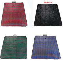Hiking Plaid Blanket Mat 200cm x 150cm Travel Rug Foldable for Multiplayer Waterproof Garden Camping Beach Picnic(China)