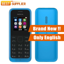 Original New Nokia 105 Dual SIM Mobile Phone Free Shipping(China)
