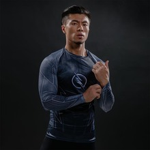 Hot superhero superman, flash, 2017 men long sleeve T-shirt compressed bodice fitness T-shirt