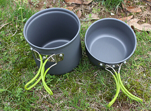 2pcs/set Outdoor Camping Cookware Set Picnic Bowl Pot Set DS101