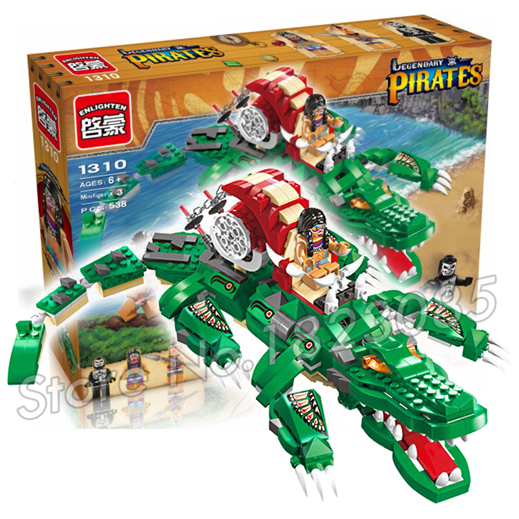 538pcs 2017 new Fury Crocodile Pirates Series Model Building Block Toys Bricks Gifts Children Compatible With Lego<br><br>Aliexpress