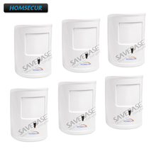 HOMSECUR 6Pcs A12 Pet-Immune/Friendly PIR Sensor For Our Wireless 433MHz Alarm System(China)