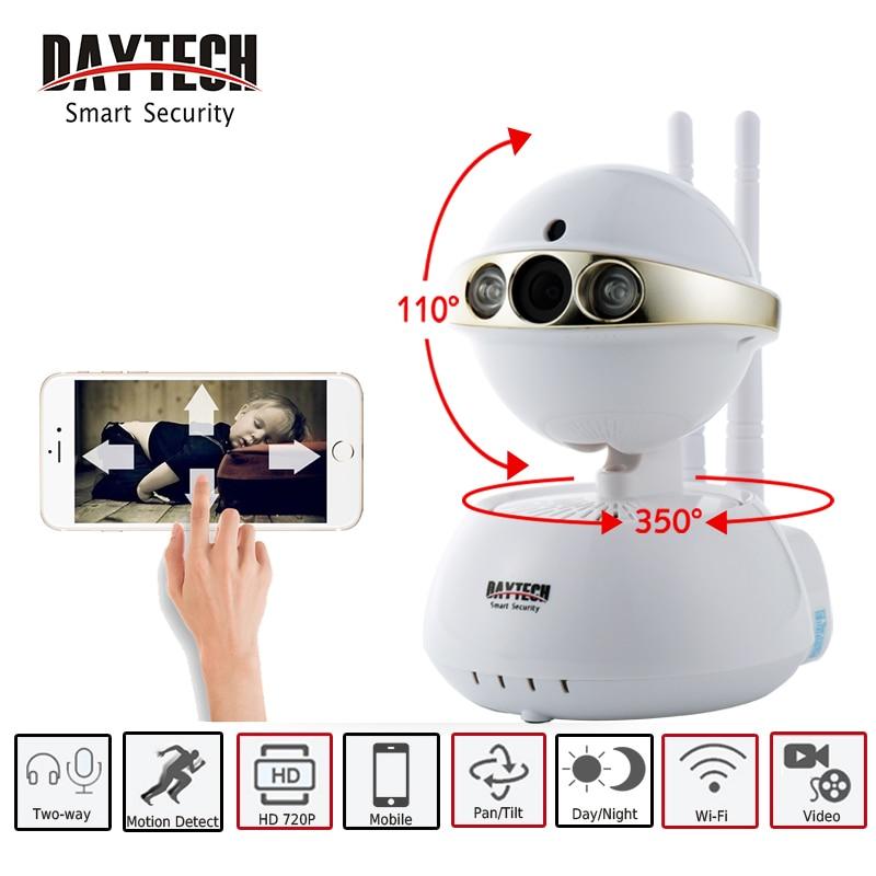 DAYTECH Wireless IP Camera WIFI Smart Surveillance Security Mini Baby Minitor 720P Night Vision Two way Audio DT-C104-720P<br>