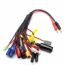 1 to 19 Multi-function Charging Cables Banana Plug to XT60 EC5 Tamiya or so Various High Current Lipo Battery Helicopter Cars(China)