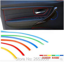 Car Styling Interior Decorative Sticker Insert Type Air Outlet Dashboard Decoration Strip Accessories for Kia Rio For Seat leon(China)