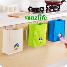 vanzlife kitchen cabinet door back type extraction garbage bag storage bag multi use hanging type storage bag