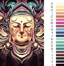 Unframed Buddha DIY Painting By Numbers Kits Paint On Canvas Acrylic Coloring Painitng By Numbers For Home Wall D/SZH-10