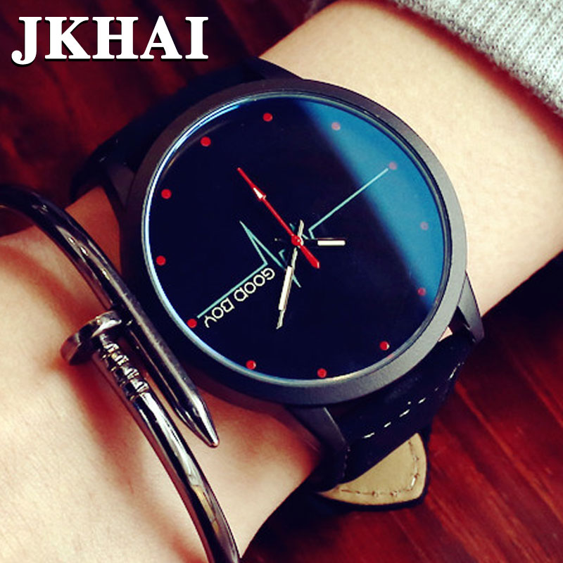 Han Guoyuan lodge Retro Leisure Contracted Blue Glass Ecg Wave Table Han Edition Student Couples Watch Men and Women<br><br>Aliexpress