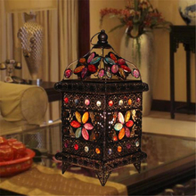 Bohemia Style Romanti Crystal Table Light Oriental Mystery Bedroom Light Cafe / Study Lights Free Shipping(China)