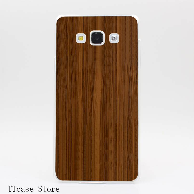 4122CA Wooden pattern Transparent Hard Cover font b Case b font for Galaxy A3 A5 A7